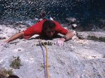 Climbing in the cliffs of Cala Gonone