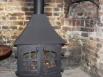 Cosy gas fire - not the old bread oven