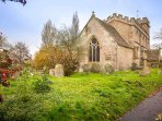 The Grade I listed Church of All Saints dates all the way back to the 12th century