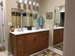 Double vanity in 1st bathroom.