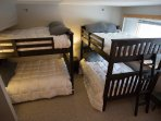 Large Bedroom with Two Sets of Full Bunkbeds