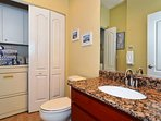 Main level has a half bath plus laundry facilities
