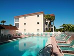 Large heated pool at Fisherman's Cove at Turtle Beach on Siesta Key