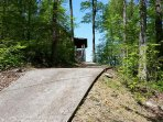 Drive way to cabin