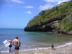 The secluded cove great for swimming and  snorkeling a 3 min. walk from our place