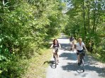 Rails to trails is great for biking, hiking, or walking.