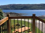 Stunning views from front door of House onto our own Shore