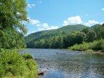Greenbrier river, great for kayaking, fishing, swimming.