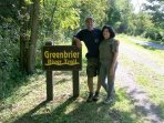 Hiking on the Greenbrier river trail..