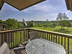 Enjoy your morning breakfast on the balcony as you overlook the on-site golf course!