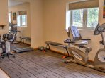 Keep up your daily workout routine with a variety of exercise equipment.