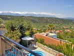 The wonderful views from the rooms and verandas are a feature of Villa Koumos.