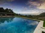 Pool view at Villa K