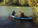 Canoe down the river Herault. Several hire companies rent out canoes