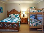 3rd ensuite bedroom featuring a queen and twin bunks