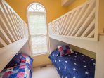 Main level double bunk beds