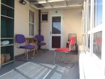 Enjoy an enclosed sunny private patio area