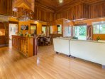 The double doors open to the large living room/dining room and kitchen.