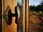 Chestnut door handle, superior craftsmanship is the hallmark of this idyllic  Cotswold retreat.