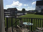 Enjoy a morning coffee on the sunny decking area