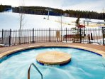Take a dip in the outdoor hot tub