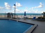 Heated Outdoor Pool Overlooking The Beach.