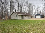 Find peace and quiet when you escape to this 1-bedroom, 1-bathroom vacation rental cabin in Pickerel on 17 private...