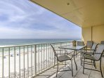 Dine with a view when you stay at this 2-bedroom, 2-bathroom vacation rental condo in Fort Walton Beach!