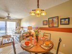 Gather around the dining table and enjoy home-cooked meals together.