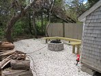 outdoor firepit, firewood included!