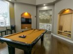 Billiards room on 2nd floor of club house open during club house hours only.