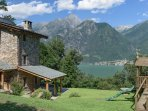 Villa Rustica and the view over Lago Di Mezzola