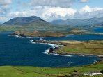 View from Valentia Island with Cahirsiveen in the distance