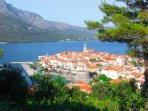 Romantic and artistic Korcula Old town with fabulous restaurants and wonderful museums