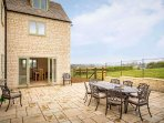 A lovely outdoor space, with wonderful rural views