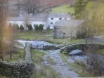 Lakeland Cottage: Lake District National Park UNESCO World Heritage Designated Site In Winter.