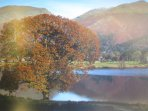 Lakeland Cottage: Lake District National Park UNESCO World Heritage Designated Site In Autumn.