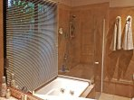Main bathroom (first floor), Shower, jacuzzi