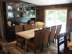 Dining area with seating for 10 at the vintage table