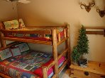Third bedroom with a queen bed and twin over it --Bunk Bed