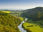 The view from Symonds Yat, Herefordshire