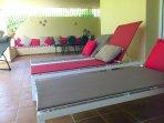 Sunbeds on the terrace