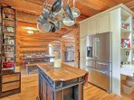 The fully equipped kitchen on the main floor features everything you need to prepare your favorite recipes.
