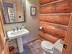 There are 4 bathrooms in this spacious home.