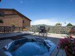 Ski Inn Deck and Hot Tubs