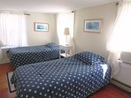 Bedroom #2 with Twin Trundle Bed (2 Twins) and a single Twin Bed and A/C unit- 130 Belmont Road West Harwich Cape Cod ...