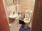 Toilet with bidet shower