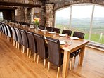 Dining table seats 34 with amazing panoramic views