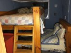 Set of full size bunk beds.