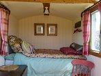 The hut has been furnished to make it into a comfortable space to relax, rest and sleep